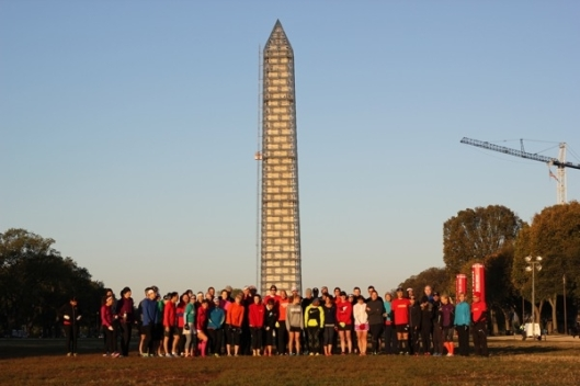 Runners World Challenge MCM 2013. I'm to the right in the orange compression socks. (Courtesy RWC)
