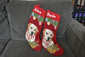 Stockings from my mom. The one thing that I asked her to make sure to continue.