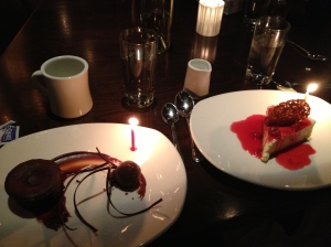Birthday Dessert at One Midtown Kitchen.
