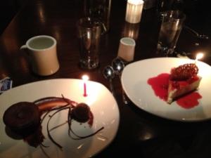 Birthday Dessert at One Midtown Kitchen.