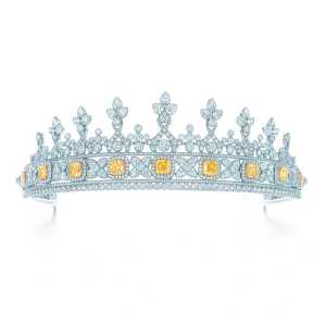 If you try to tell me that you have never had the desire to wear a tiara, I am going to call your bluff. Tiffany's Intense Yellow Diamond Tiara