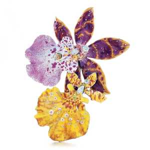 How. Gorgeous. Is this. Tiffany & Co Orchid Enamel Brooch
