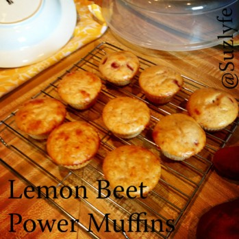 Lemon Beet Power Muffins