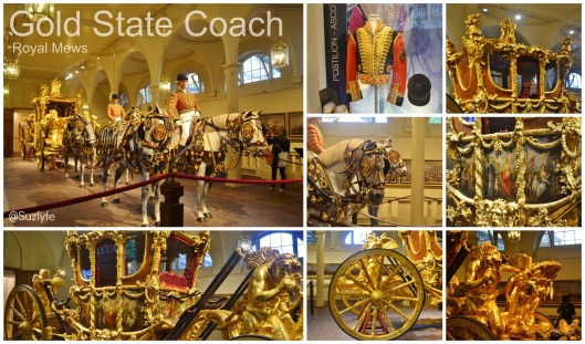 gold state coach Collage
