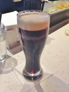 Alex's Milk Stout. I had to take a picture because it was SUCH a perfect pour.