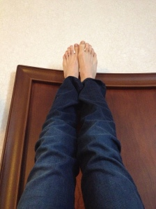 I read blogs with my legs propped up.
