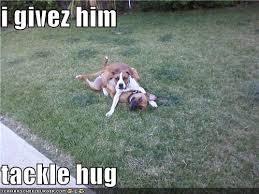 tackle hug
